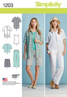 1203 Simplicity Pattern: Misses' and Women's Casual Summer Separates